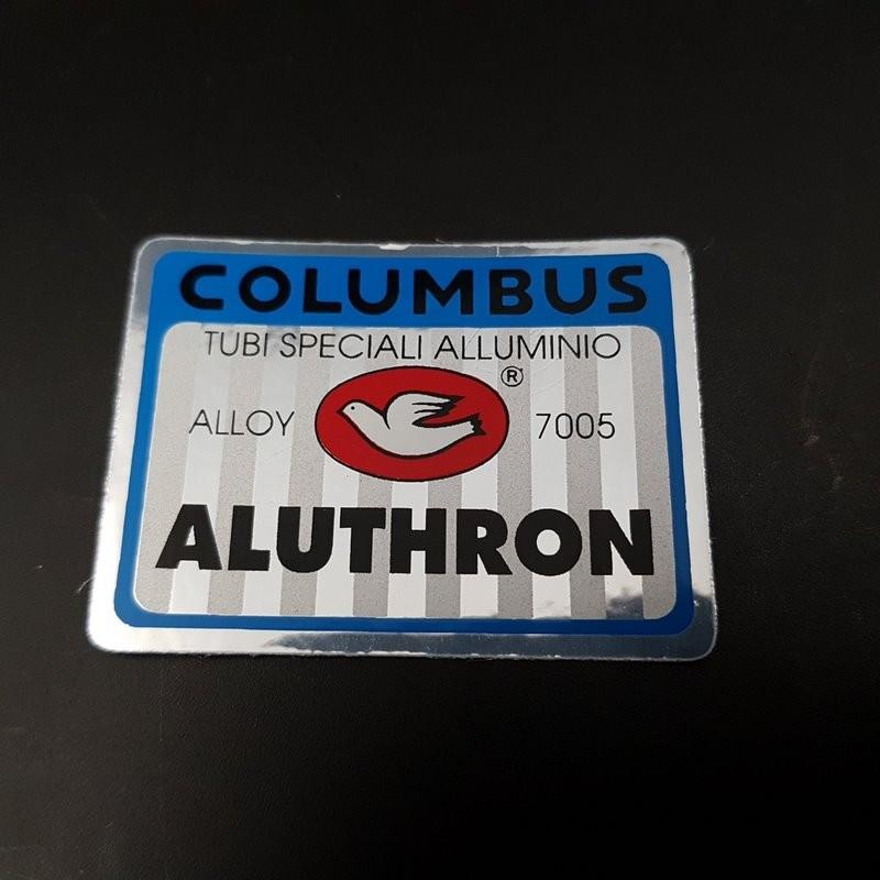 """Sticker cadre """"COLUMBUS ALUTHRON"""" NOS (ref 03)"""
