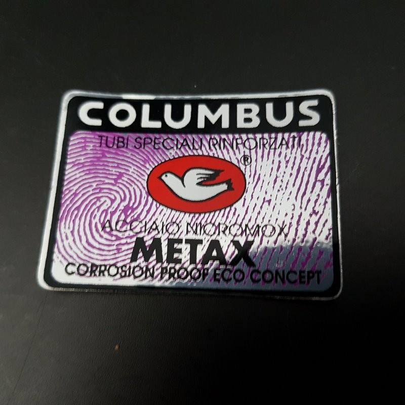 """Etiqueta engomada de la trama """"COLÓN METAX"""" NUESTRO"""