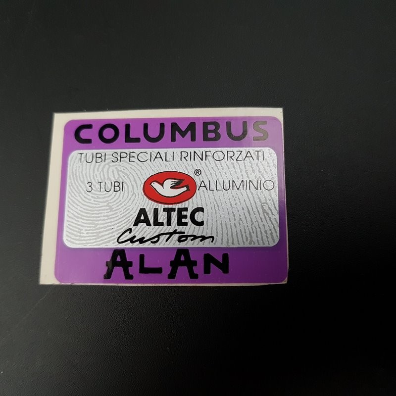 "Sticker cadre ""COLUMBUS ALTEC ALAN"" NOS"