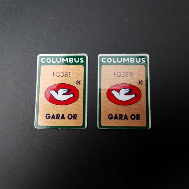 """Stickers fourche """"COLUMBUS GARA OR"""" NOS"""