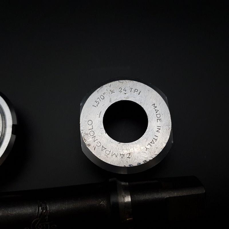 "Axe de pédalier ""CAMPAGNOLO GRAN SPORT"" 112 mm BSC 1.37 x 24 (Ref 305)"