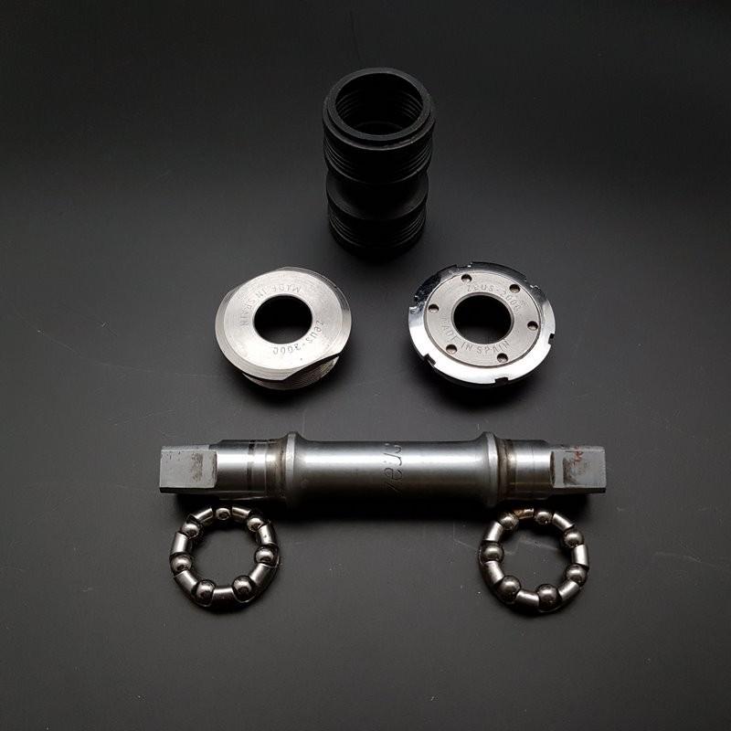 """Axe de pédalier """"ZEUS CRITERIUM"""" 118 mm 35 x 1 (Ref 316)"""