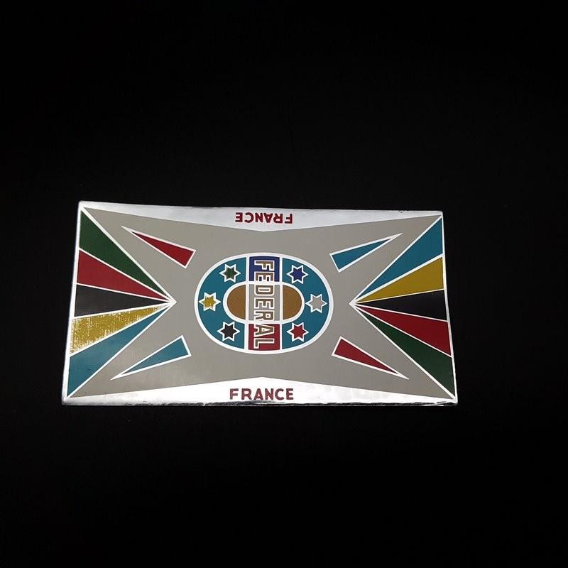 """Sticker de cadre """"FEDERAL France"""" NOS"""