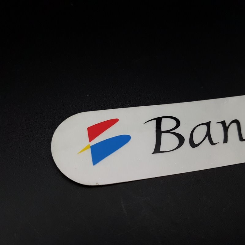"Sticker frame ""BANESTO"" OUR"