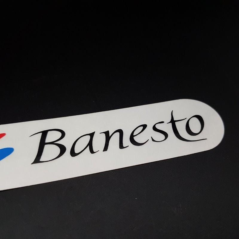 """Pegatina marco de """"BANESTO"""" NUESTRO"""