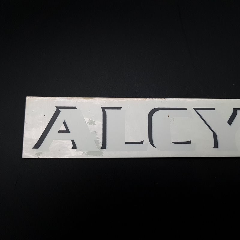 "Aufkleber ""ALCYON"" Horizontale UNSERE"