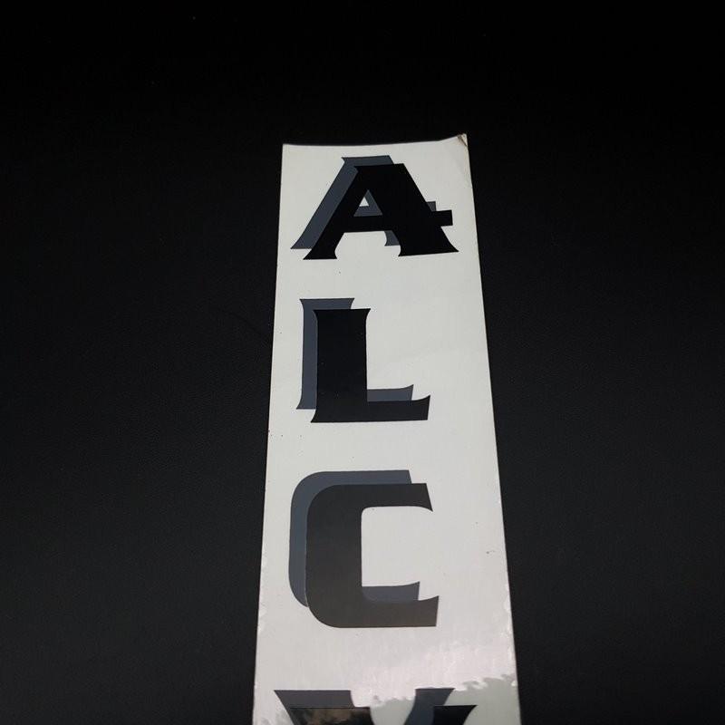 "Aufkleber ""ALCYON"" Vertical UNSERE"
