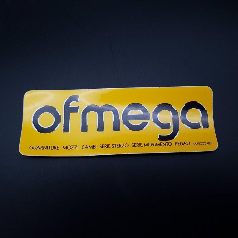 """Sticker """"OFMEGA"""" jaune NOS"""