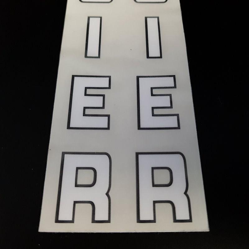 """- Sticker-rahmen - """"MERCIER"""" (Ref 07)"""