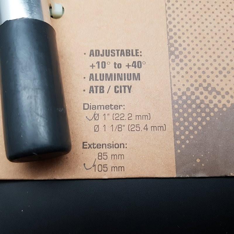 "Potence AJUSTABLE ""SPECTRA"" 105 mm  (Ref 625)"