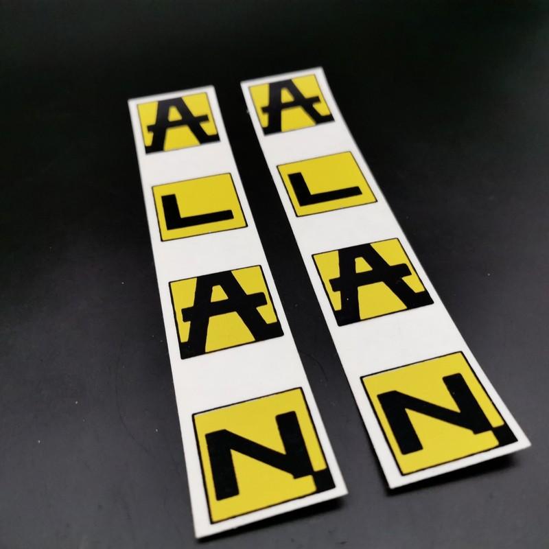 "Sticker de cadre ""ALAN Jaune"" Vertical NOS"