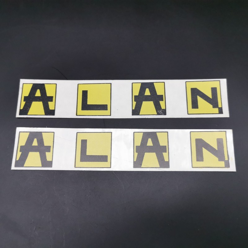"""Sticker de cadre """"ALAN Jaune"""" Horizontal NOS"""