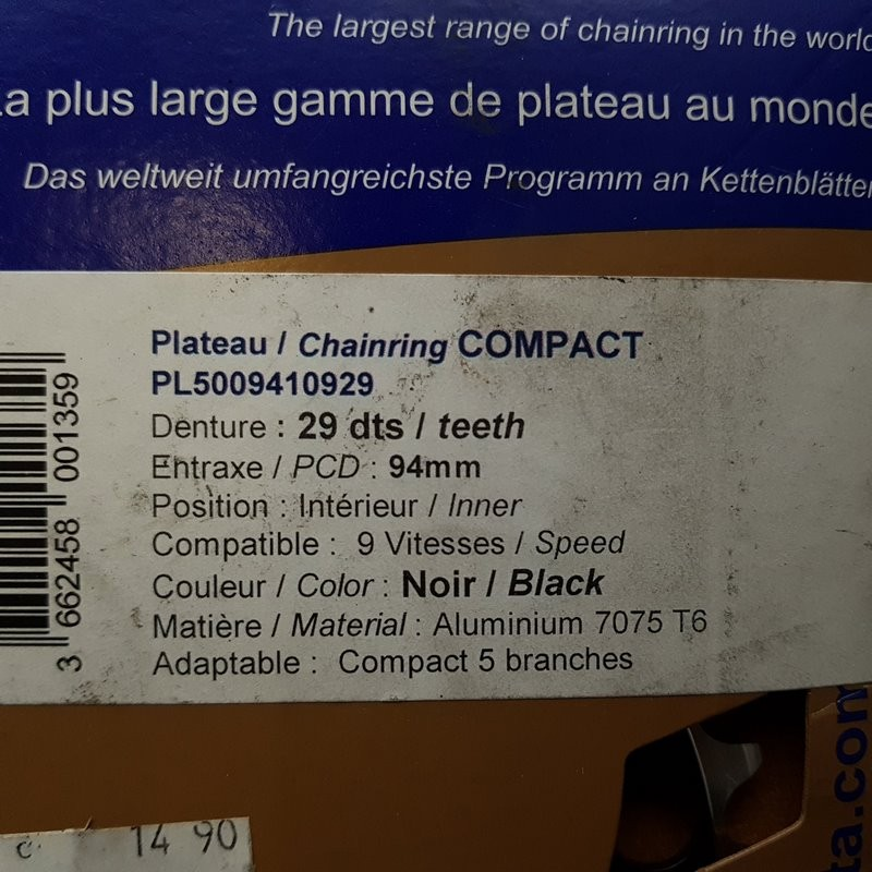 """Plateau OUR """"SPECIAL TA COMPACT"""" 29d BCD 94 (Ref 736)"""