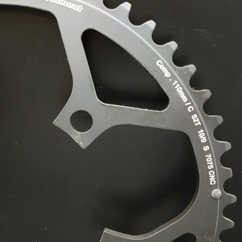 """Plateau NOS """"STRONGLIGHT CT2 / Campagnolo Ultra Torque"""" 52d BCD 110 (Ref 740)"""