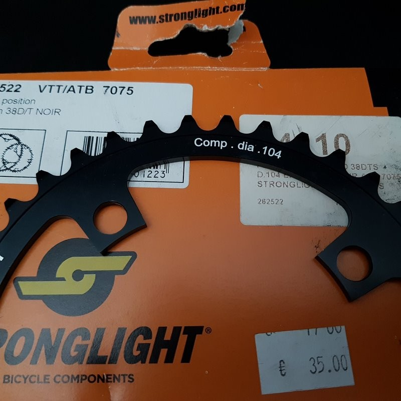 """Plateau NOS """"STRONGLIGHT"""" 38d BCD 104 (Ref 772)"""