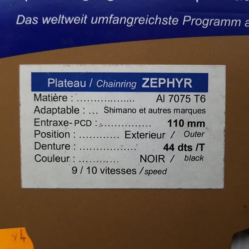 """Plateau OUR """"SPECIALITIES TA ZEPHYR"""" 44d BCD 110 (Ref 766)"""