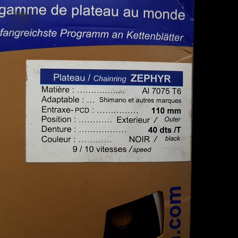 """Plateau OUR """"SPECIALITIES TA ZEPHYR"""" 40d BCD 110 (Ref 767)"""