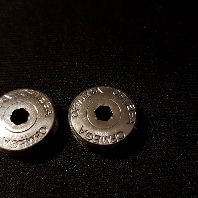 """Dust Caps """"OFMEGA"""" (Ref 12)"""