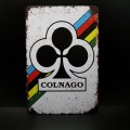 "Plaque métal décorative ""COLNAGO"" (Ref 04)"