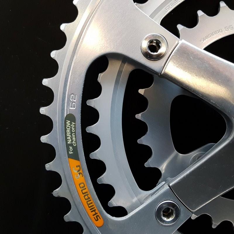 "Crankset ""SHIMANO RX100 Triple 170 mm (Ref 629)"