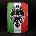 """Plaque métal décorative """"EDOARDO BIANCHI"""" (Ref 14)"""