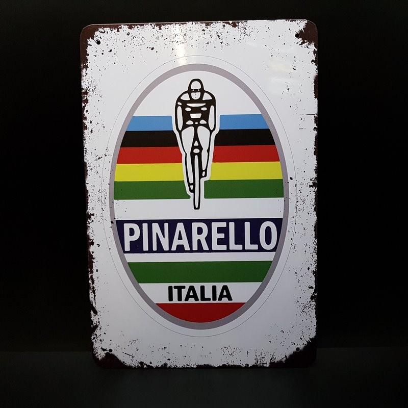 """Plaque métal décorative """"PINARELLO"""" (Ref 16)"""