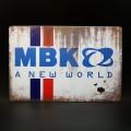 """Plaque métal décorative """"MBK"""" (Ref 21)"""