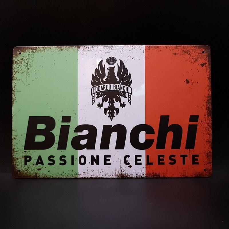 """Plaque métal décorative """"BIANCHI"""" (Ref 20)"""
