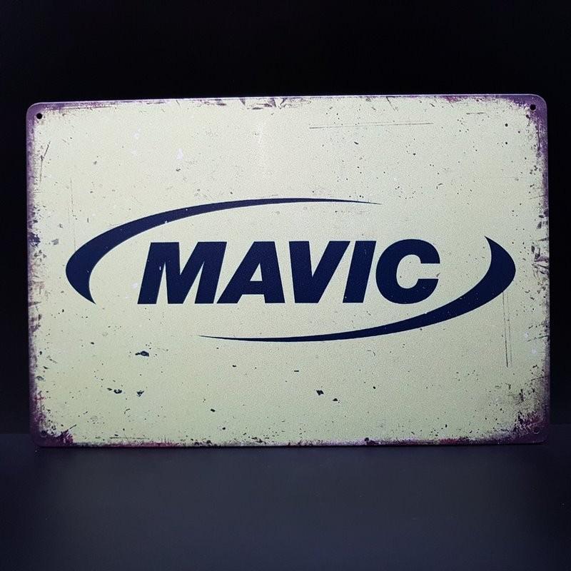 """Plaque métal décorative """"MAVIC"""" (Ref 24)"""