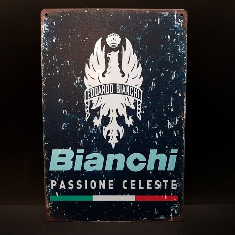 """Plaque métal décorative """"BIANCHI"""" (Ref 18)"""