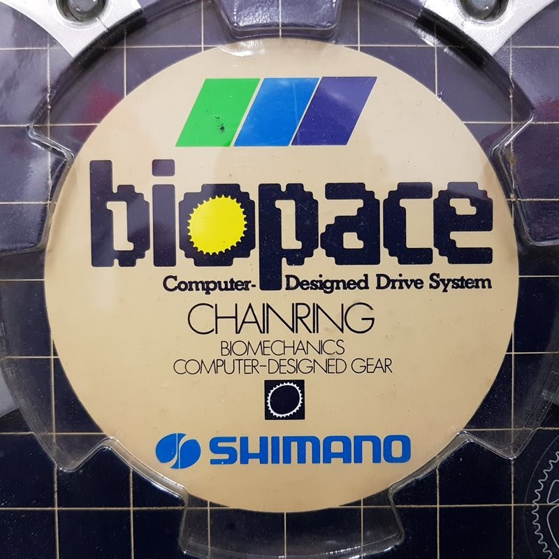 """Plate N. O. S """"SHIMANO 600 BIOPACE"""" 52d BCD 130 (Ref 943)"""