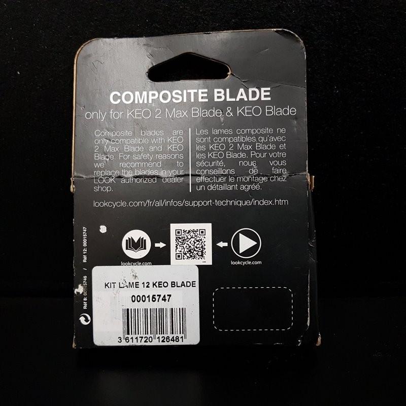 """Carbon blade kit """"LOOK KEO BLADE (12)"""" (Ref 711)"""