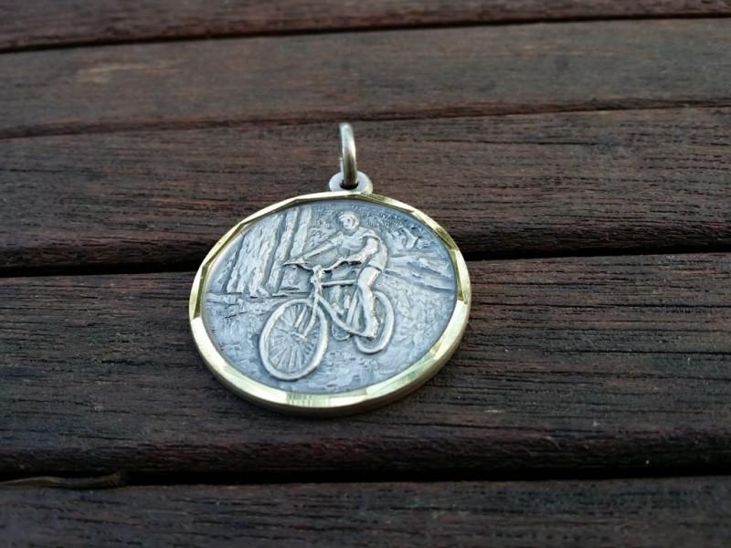 """Medaglia Di """"Mountain Bike"""" (Rif M02)"""