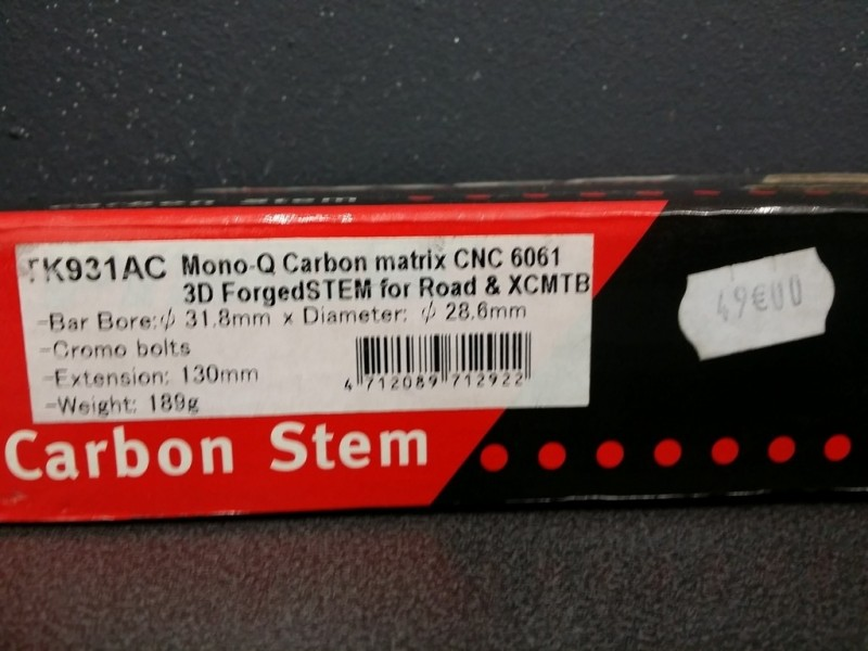"Stem Aheadset ""TOKEN Carbon"" 130mm (Ref 123)"