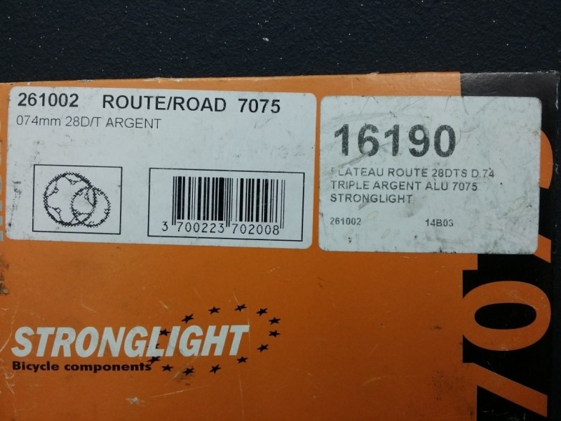 "Plateau NOS ""STRONGLIGHT 7075""  28d BCD 74 (Ref 68)"