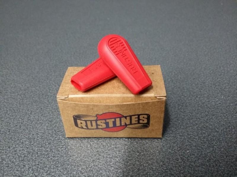 Embouts manettes de vitesses Rustines (Rouge)