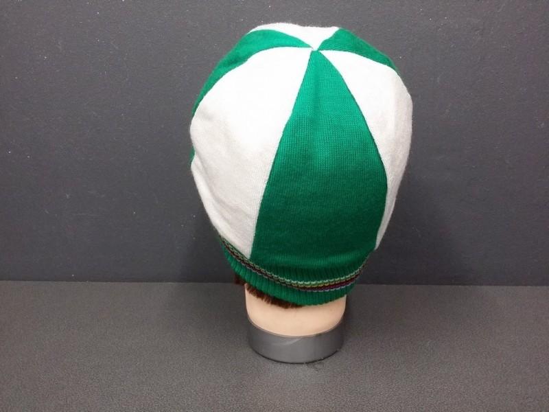"""Casquette Hiver """"Vert /Blanc laine"""" (Ref 47)"""
