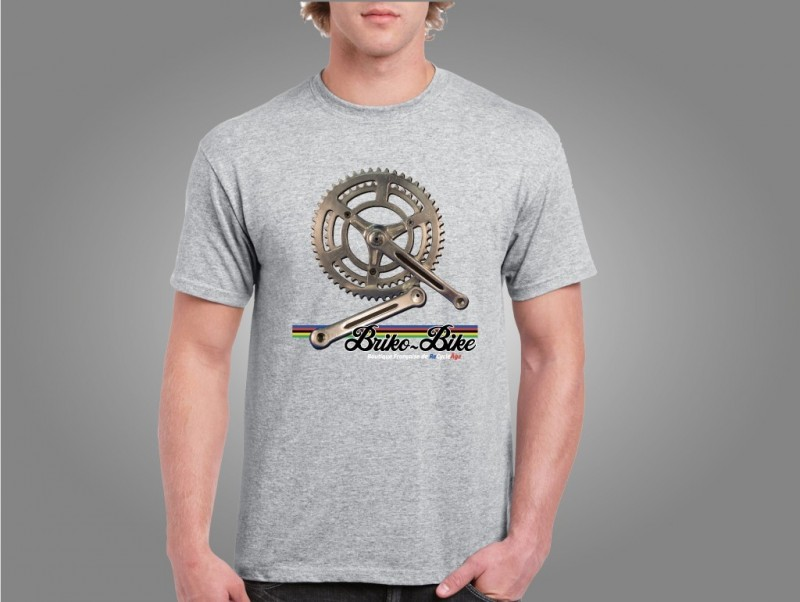 "T-Shirt ""BRIKO-BIKE"" gris claro"