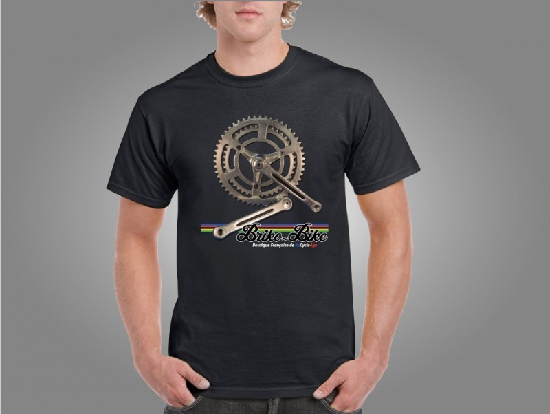 "T-Shirt ""BRIKO-MOTO"" Nero"