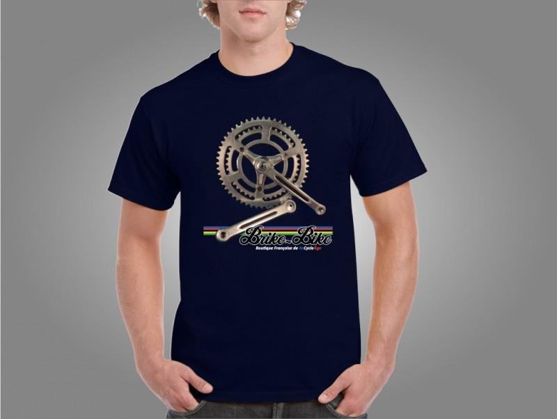 """T-Shirt """"BRIKO-BIKE"""" Azul marino"""