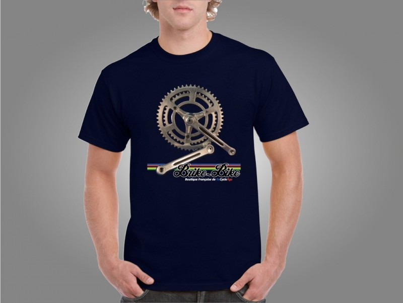 "T-Shirt ""BRIKO-MOTO"" Blu Navy"