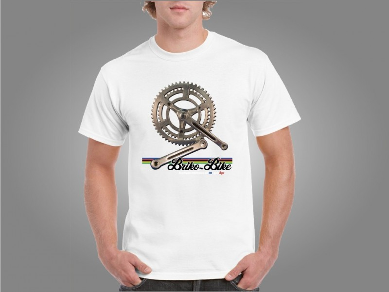 """T-Shirt """"BRIKO-MOTO-Bianco"""""""