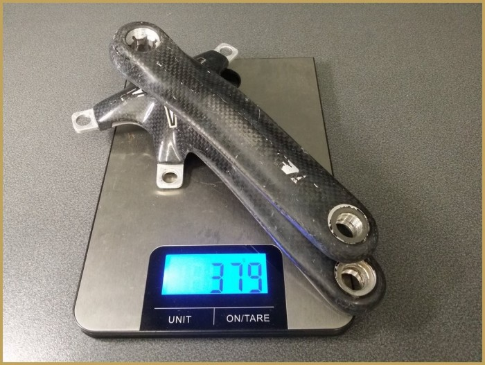 """Pédalier """"FSA Carbon"""" 175mm (Ref 430)"""