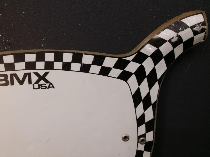 Plaque de course BMX USA (Ref 01)