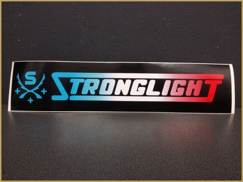 "Sticker with ""STRONGLIGHT"""