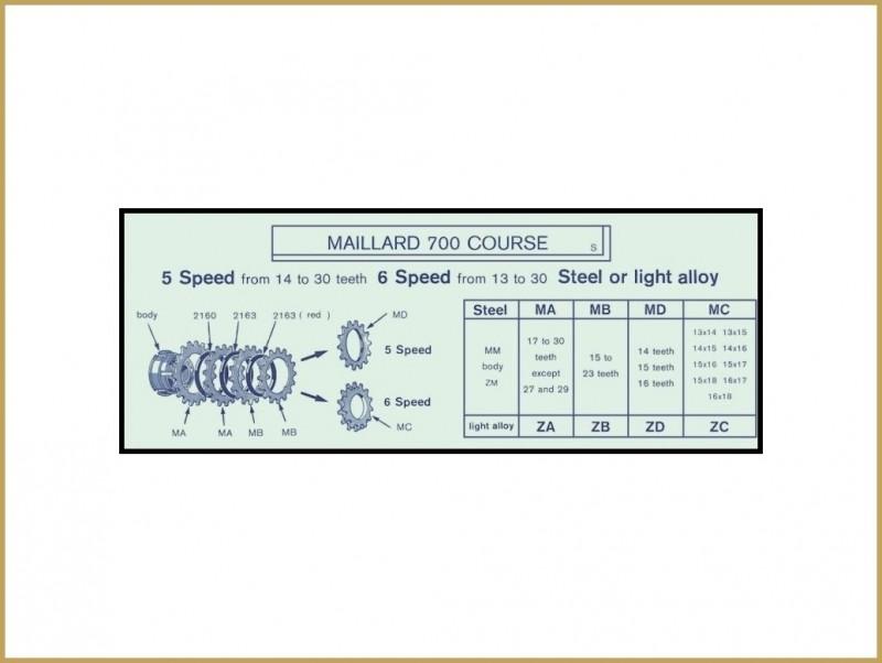 """Kettenrad ALU """"MAILLARD-ZA"""" 19d (Ref 05)"""
