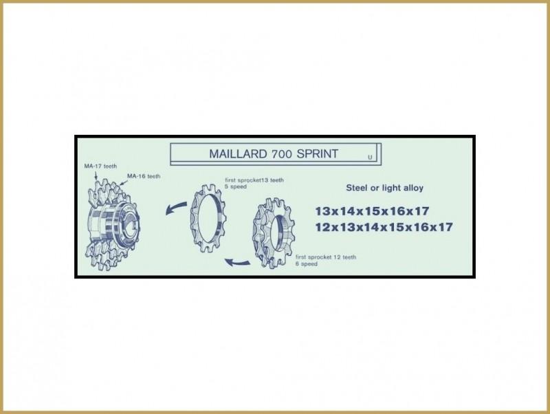 """Kettenrad ALU """"Maillard-ZA"""" 18d (Ref 06)"""
