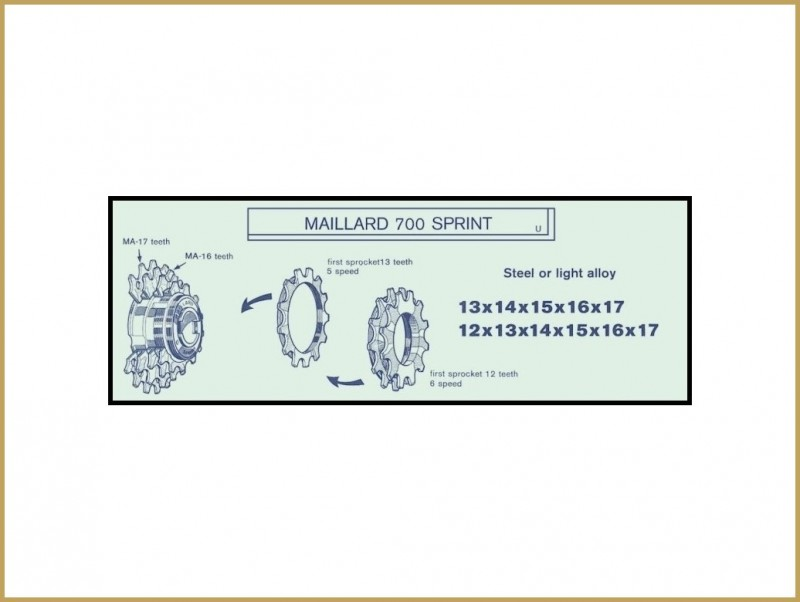 "Sprocket OUR ""Maillard MB"" 23d (Holes)"