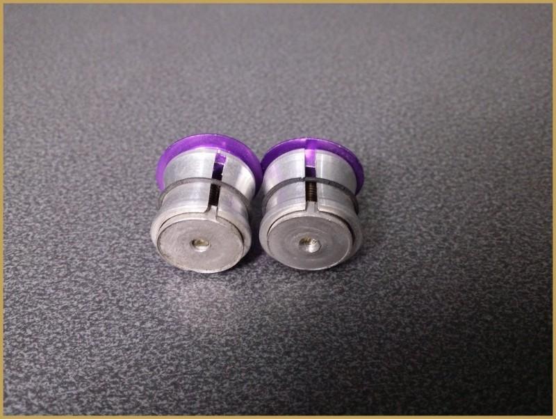 "Bouchons de guidon ""Aluminium"" Violet (Ref 12)"