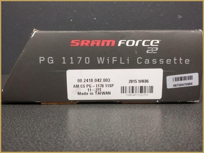 """NEW Cassette """"SRAM FORCE"""" 11v 11/32 (Ref 97)"""